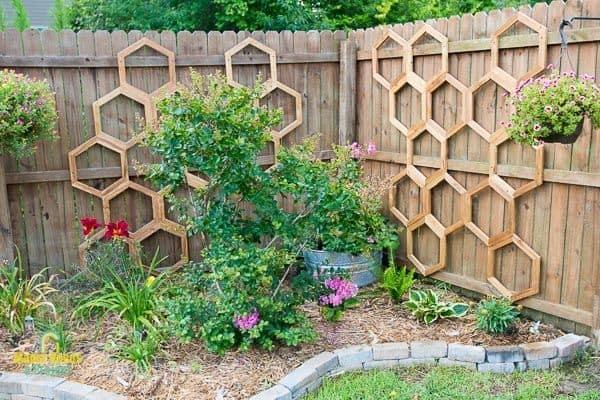 honeycomb fence trellis